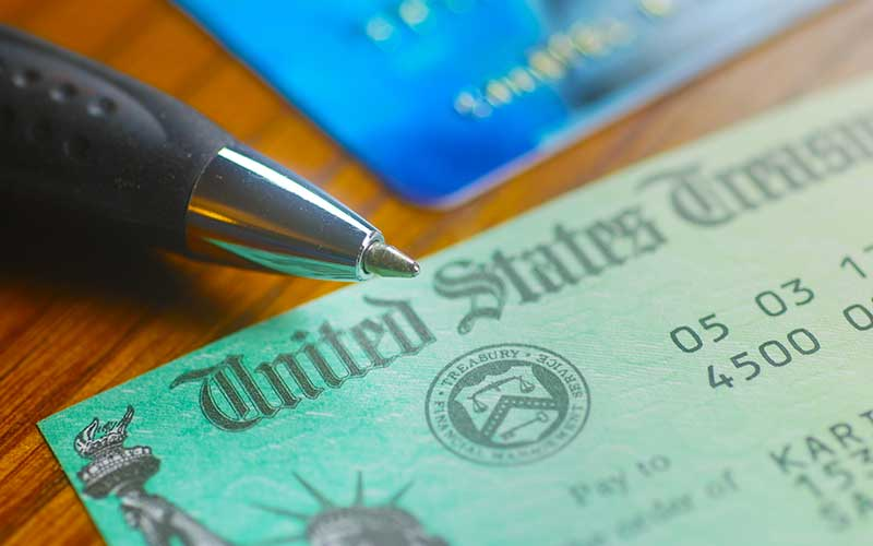 social security disability check